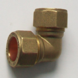 Brass Compression Elbow MDPE Alkathene 25mm - 18442500